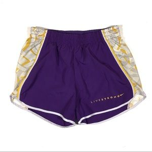 Nike Livestrong XS Dri-Fit Running Shorts Purple
